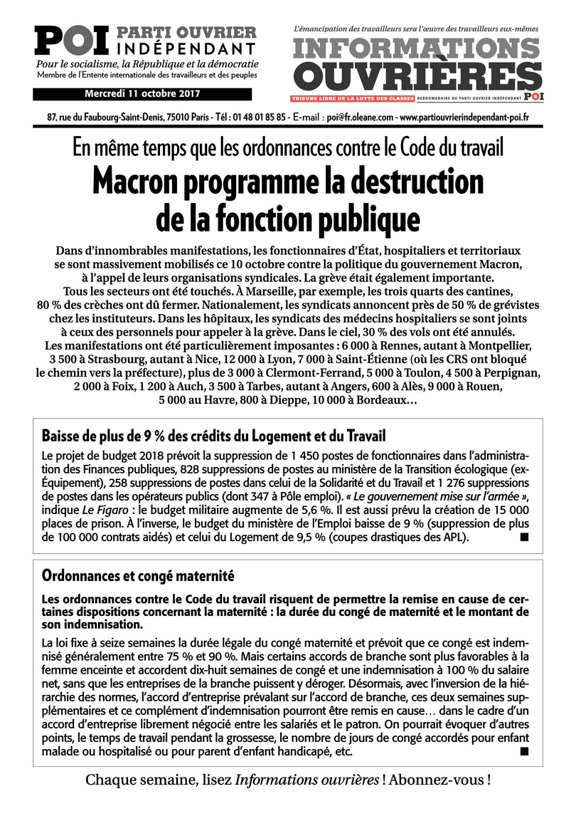 Macron programme la destruction<br class='autobr' /> de la fonction publique