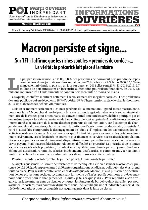 Macron programme la destruction<br class='autobr' />de la fonction publique